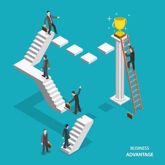 ビジネス上の利点等尺性フラットベクトル概念。