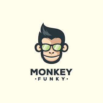 猿のマスコットテンプレート