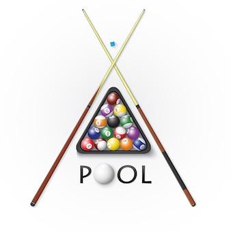 プールビリヤードのロゴ
