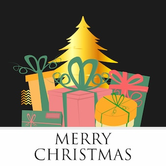 Квадратный вектор рождественской открытки