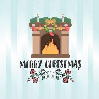 メリークリスマス全員、ヴィンテージの背景