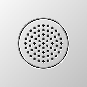 穴あきグリル付きオーディオスピーカー