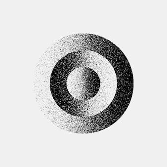 黒の抽象的なサークルバッジ