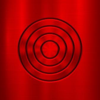 赤い金属の抽象的な技術の背景