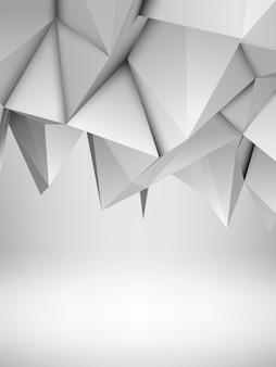 白の抽象的な多角形の背景