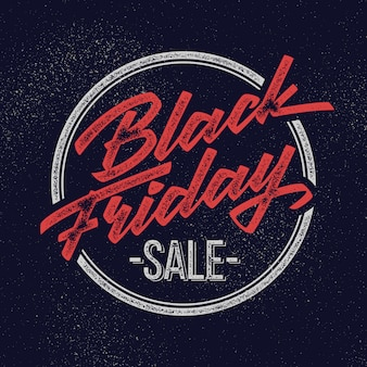 Черная пятница продажа надписи знак