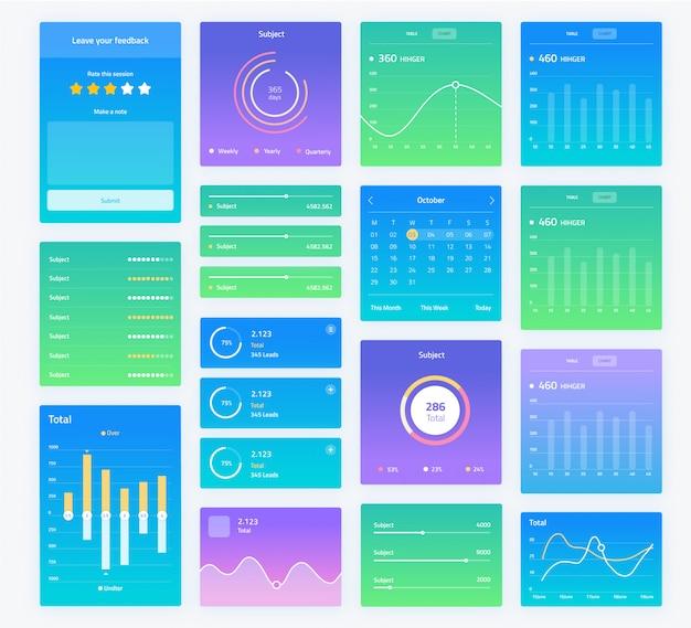 分析チャートを含むユーザーインターフェイス画面