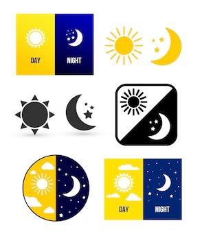 昼と夜のシーン