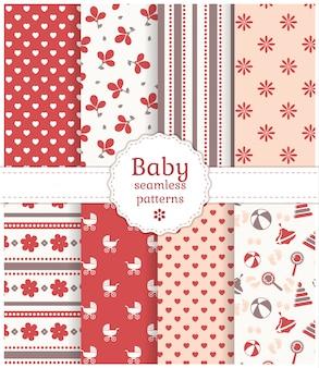赤ちゃんのシームレスなパターン。