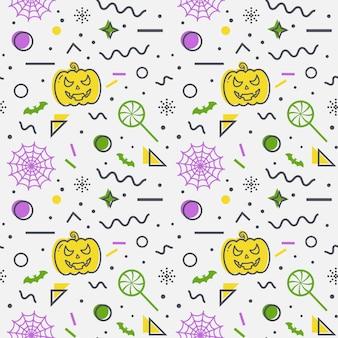 Хэллоуин бесшовные фоном. мемфис шаблон.