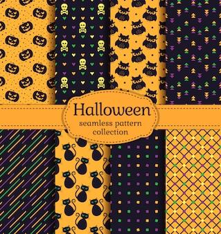 Хэллоуин бесшовные модели