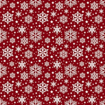 Снежинки шаблон. вектор бесшовного фона.
