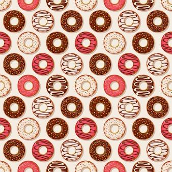 Фон пончики. вектор бесшовные модели