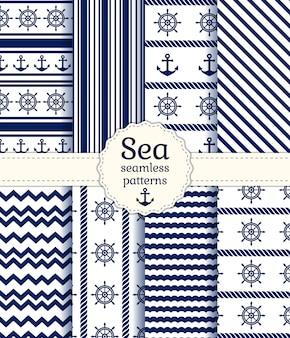海のシームレスパターン。