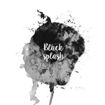 水彩黒スプラッシュ