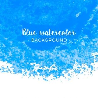 ブルー水彩スプラッシュ