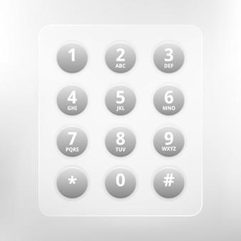 電話のキーパッド