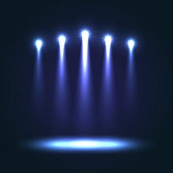 ブルーステージの背景