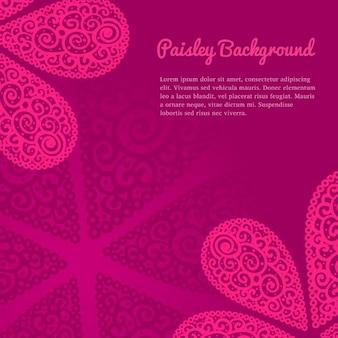ピンクのペイズリー背景