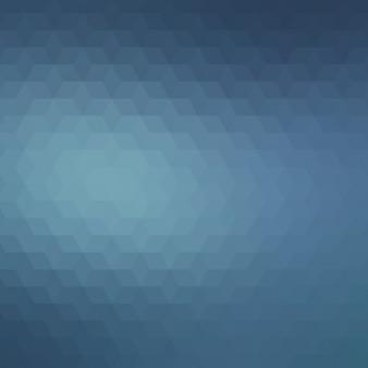 ダークブルーの色調で抽象的な多角形の背景