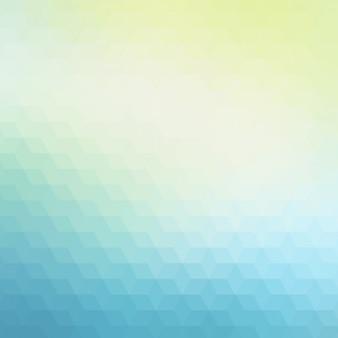 青と緑の色調で抽象的な多角形の背景