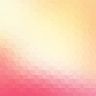 赤とクリーム色の色調で抽象的な幾何学的な背景