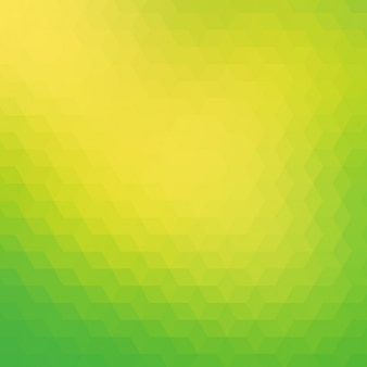 緑と黄色の色調で多角形の背景