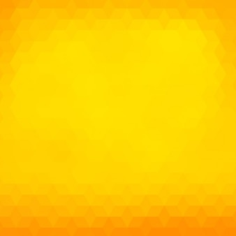 黄色とオレンジ色のトーンでの多角形の背景