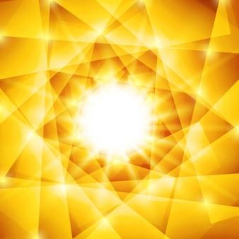 シャイニー多角黄色と茶色の背景