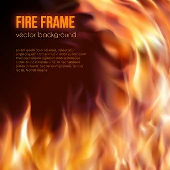 火災背景デザイン