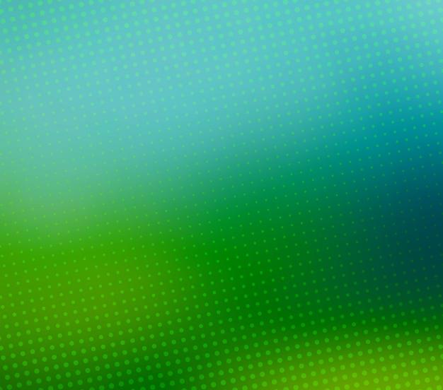 緑、ぼやけたハーフトーンベクトルの背景