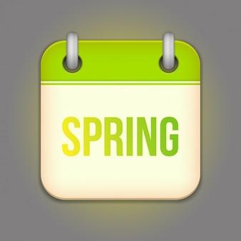 春のカレンダーのデザイン