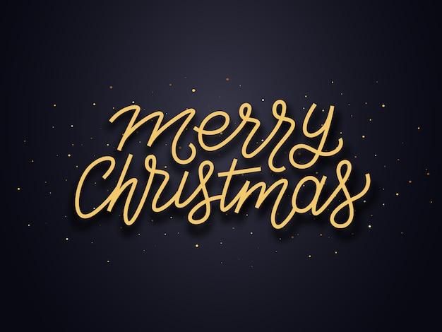 メリークリスマスはタイポグラフィーを願っています。ベクターカード