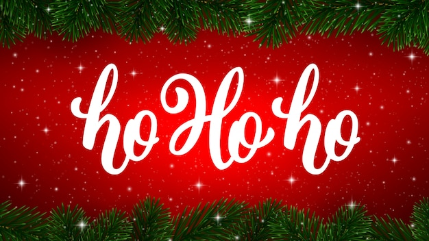 Хо-хо-хо. рождественская открытка