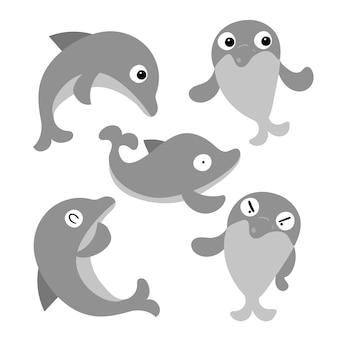 カエルのキャラクターベクターデザイン