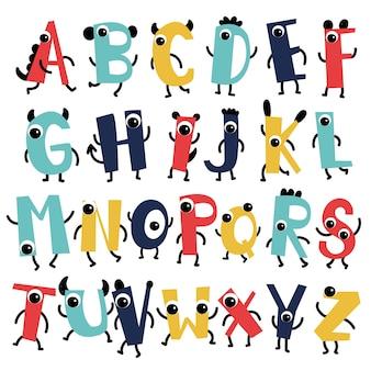 子供のためのアルファベットのベクトルデザイン
