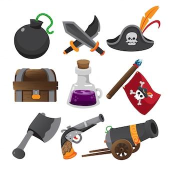アイテムゲーム、アプリケーションアイコン、ゲームのセット