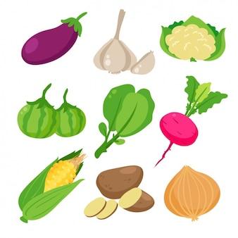 Коллекция цветные овощи