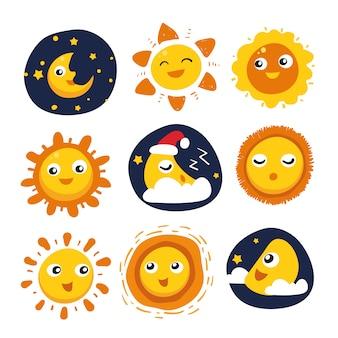 太陽と月のデザインコレクション