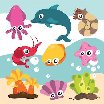 海の動物コレクション