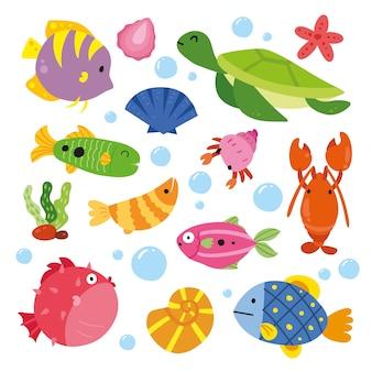 海の動物のコレクション