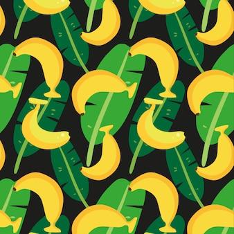バナナパターンの背景