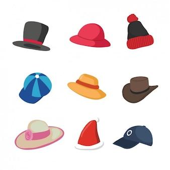 色とりどりの帽子コレクション