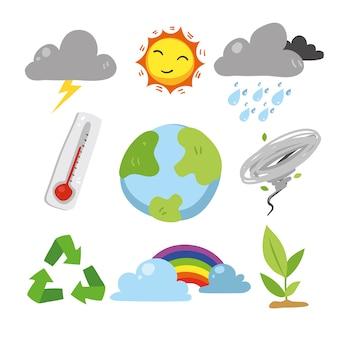 Коллекция элементов погоды