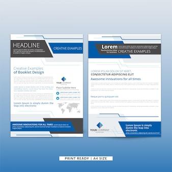 ブルーコーポレートビジネスパンフレット