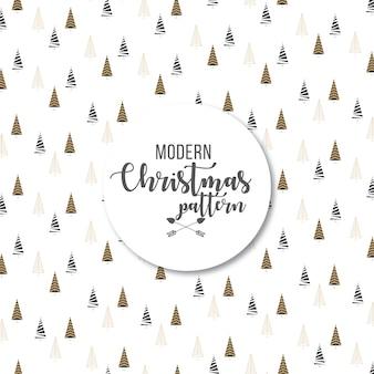 エレガントでモダンな抽象的なクリスマスツリーパターン