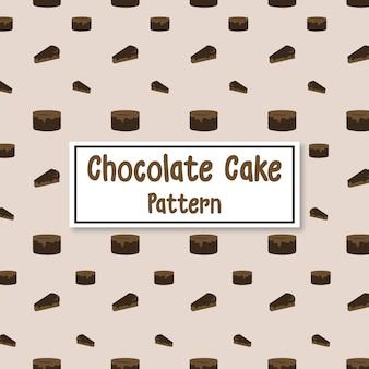 チョコレートケーキのパターンの背景