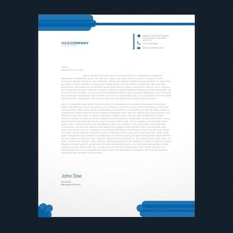 Синие детали шаблона фирменных бланков