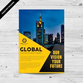 Элегантная желтая бизнес-брошюра