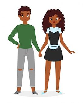 アフリカのファッションのカップル